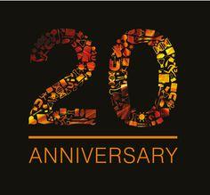 Anniversary on pinterest 20th anniversary anniversary logo and
