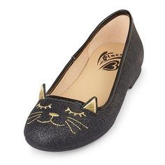 Girls Cat Graphic Kayla Ballet Flat