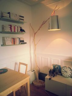 DIY Wood lamp. Inspiration Pinterest !
