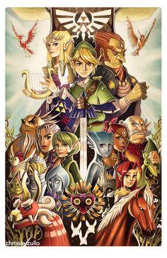 Tribute to the Legend of Zelda by chrissie-zullo.deviantart.com on @DeviantArt