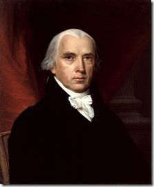 """Official White House Portrait of James Madison ~ President of the United States. (Term: James Madison is hailed as the """"Father of the Constitution"""". He was president during the War of James Madison, List Of Presidents, American Presidents, Thomas Jefferson, Us History, American History, History Pics, Canadian History, George Washington"""