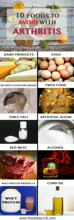 Arthritis Diet Treatment: 10 Foods To Avoid. If you are suffering from arthritis, the purpose of this article is to list out ten foods that you should be looking to avoid. This Arthritis diet treatment is based on research and testimonies from people with arthritis. Read and enjoy! <<>> Anti-Arthritis: http://www.noflam.com/?id=8a4647