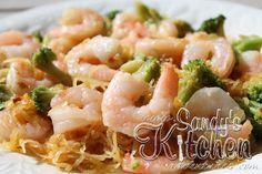 Sandys Kitchen Shrimp Lo Mein with Spaghetti Squash