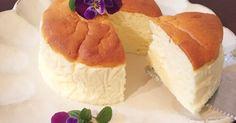ふわぁ〜しゅわ〜♡とっても軽いヨーグルトスフレケーキです。脂肪オフヨーグルトを使っているし、お粉も少しなのでヘルシーです