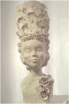Barock / Rokoko Frisur Skulptur hohe puderfrisur marie antoinett,