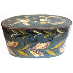 Antique Brides Box | Antique-Scandinavian-Swedish-19th-c-Oval-Bridal-Box-Original-Paint ...