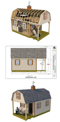 A neat cabin with loft that is easy to build, spacious, and has a relaxing front porch. Find out more about the detailed and easy to use plans.