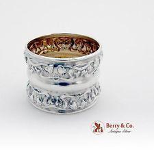 Art Nouveau Foliate Napkin Ring Sterling Silver 1900