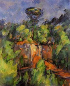 Bibemus Quarry Artist: Paul Cezanne Completion Date: c.1900 Style: Cubism Period: Final period Genre: landscape Technique: oil Material: canvas Gallery: Private Collection