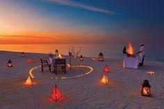 Private dining at Atmosphere Kanifushi Maldives