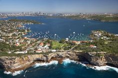 The Gap, Watsons Bay and Sydney Harbour, Sydney, New South Wales, Australia - aerial