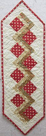 Quilters Corner VA: Red & Tan Table Runner $30.00