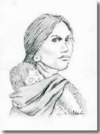 FREE Graphite and Charcoal Project: Sacajawea Portrait in Pencil...We can honor this great lady who served as a guide in the Lewis and Clark expedition with a pencil or charcoal portrait. It's quite easy when you use a drawing grid. With the special printables for this project, you will find drawing a pencil portrait easier than your think. Ages 11 and up.
