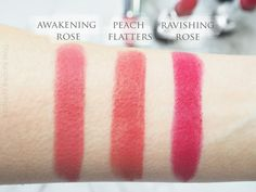 Avon True Colour Perfectly Matte Lipstick Awakening Rose, Peach Flatters and Ravishing Rose on NC10 - Mateja's Beauty Blog