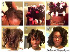 Kami's foam roller set on her natural hair - http://www.blackhairinformation.com/community/hairstyle-gallery/natural-hairstyles/kamis-foam-roller-set-natural-hair/