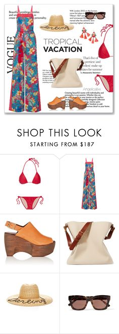"""""""Tropicaliente"""" by angelicallxx ❤ liked on Polyvore featuring Tiffany & Co., ADRIANA DEGREAS, Miguelina, Simon Miller, Lanvin, Eugenia Kim, Ganni, Lilly Pulitzer and TropicalVacation"""