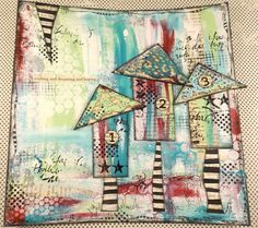 Little Houses journal page by Trish using Calico Craft Parts corners.