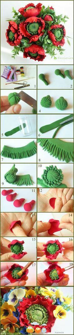 DIY Clay / Polymer flowers::