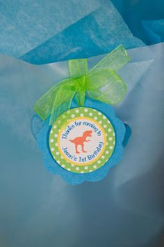 Dinosaur Favor Tags Birthday Party