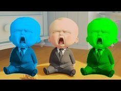 Learn Colors With THE BOSS BABY Funny Videos For Children - Learning Video for Kids - YouTube