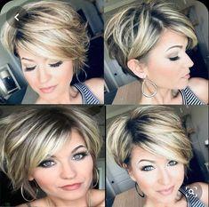 Latest Short Hairstyles, Long Bob Hairstyles, Short Haircuts, Pretty Hairstyles, Short Hair With Layers, Short Hair Cuts For Women, Short Curly Hair, Short Hair Styles, Longer Pixie Haircut