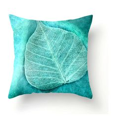Skeletal Leaf square or lumbar decorative pillow, turquoise accent... (145 ILS) ❤ liked on Polyvore featuring home, home decor, throw pillows, turquoise toss pillows, turquoise throw pillows, turquoise accent pillows, square throw pillows and lumbar throw pillow