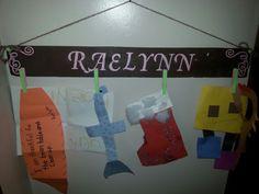 School/art work holder I made for my granddaughter