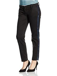 Trussardi Jeans Pantalón Chinos Drill Stretch Dyed Paillettes
