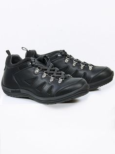 Vegan Vegetarian Non-Leather Mens Black Hiking Shoes