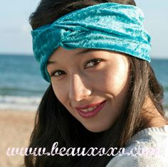 Velvet Turban Headband Turband Headband Teal by beauxoxo on Etsy, £7.00