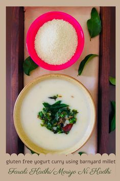 Farali Kadhi/ Moriyo ni Kadhi is a delicious, gluten free yogurt based curry made using barnyard millet. Enjoy it with rice, Indian Flatbread or sip it on its own. #glutenfree #nutritious #yogurt #yogurtcurry #ekadashifood #fastingfood #faralifood #healthyfood #kadhi #gujaraticuisine #Indiancuisine Vegetarian Platter, Vegetarian Recipes, Healthy Recipes, Yogurt Curry, Gujarati Cuisine, Indian Food Recipes, Ethnic Recipes, Vegetable Curry, Root Vegetables