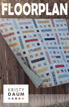 Calling all Quilters : Let me introduce you to the FLOORPLAN Quilt Pattern, designed and written by Kristy Daum of St. Louis Folk Victorian.  #quilt #quilting #quiltpattern #modernquilt