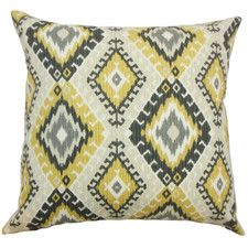 Jinja Geometric Cotton Throw Pillow
