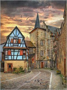 Dusk, Alsace, France