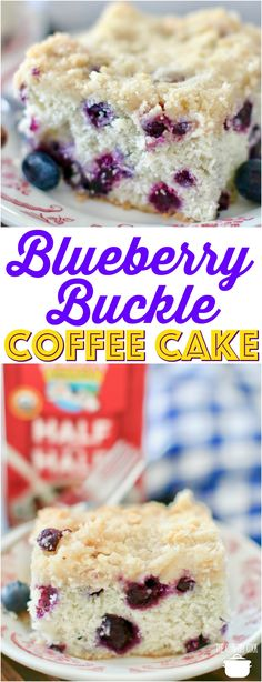 Easy Homemade Blueberry Buckle Coffee Cake recipe from The Country Cook cakes. Easy Cake Recipes, Dessert Recipes, Blueberry Recipes Easy, Blueberry Buckle Recipe, Drink Recipes, Baking Recipes, Delicious Desserts, Blueberry Cake, Breakfast Cake