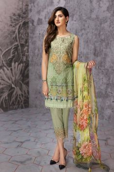 19559a694d RIS JAZMIN EMBROIDERED LAWN UNSTITCHED 3 PIECE SUIT DETAILS Digital Printed  Shirt Embroidered Neck Patch Embroidered Trouser Patch Digital Printed  Chiffon ...