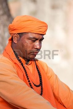ROME, ITALY - APRIL 11:  - Mystery and magic. Expression of indian man evoking spiritual magic and mystery of Indian origin. - April 11, 2013, in Rome. Stock Photo - 19997321