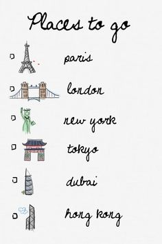 Places to go — Explore. Dream. Discover. TELL US: Where You've Already Been & Where You Want To Go? =) e.g. I've been to New York and Dubai only. I dream of visiting Tokyo. ♥ REPIN, LIKE, COMMENT & SHARE! ♥
