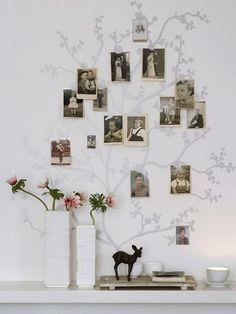 árbol familiar para decorar recibidor
