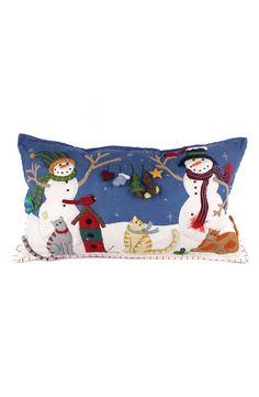 New World Arts Snowman & Friends Accent Pillow | Nordstrom