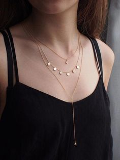 Delicate Gold Layered Necklaces/ Set of Dainty CZ Drop Necklace, Multi Circle. - Delicate Gold Layered Necklaces/ Set of Dainty CZ Drop Necklace, Multi Circle Tag Necklace & Min - Layered Necklace Set, Layered Jewelry, Simple Necklace, Drop Necklace, Pendant Necklace, Layering Necklaces, Single Diamond Necklace, Diamond Solitaire Necklace, Cute Jewelry
