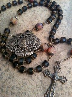 glass bead rosary.