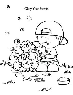 kids coloring pages obey | bible coloring pages for kids 2 | Church | Pinterest ...