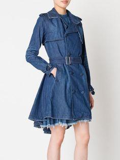Mihara Yasuhiro denim trench coat