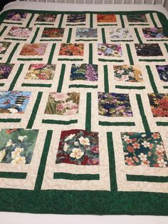 Emerald Elegance Chop Stix pattern Scrappy Quilts, Quilting, Squares, Emerald, Blanket, Floral, Pattern, Blankets, Bobs