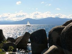Taken from Sand Harbor State Park on the Nevada side of the Lake. What A Wonderful World, Lake Tahoe, Summer Activities, Great View, Wonders Of The World, Nevada, State Parks, Travel Guide, Vacations