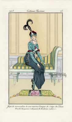 Journal des Dames et des Modes 1913. reminiscent of the fashions from 100 years before.
