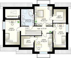 Antolka NF40 projekt - Poddasze 77.06 m²