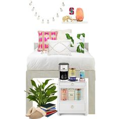 Small Sleeping Space by torijmac on Polyvore featuring interior, interiors, interior design, home, home decor, interior decorating, Home Decorators Collection, Krups, Burleigh and Bandhini Homewear Design
