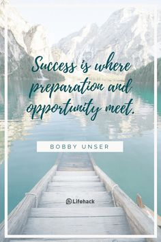 Success is where preparation and opportunity meet. - Bobby Unser Brighten your day now: http://moreti.me/2vckePp - Lifehack - Google+